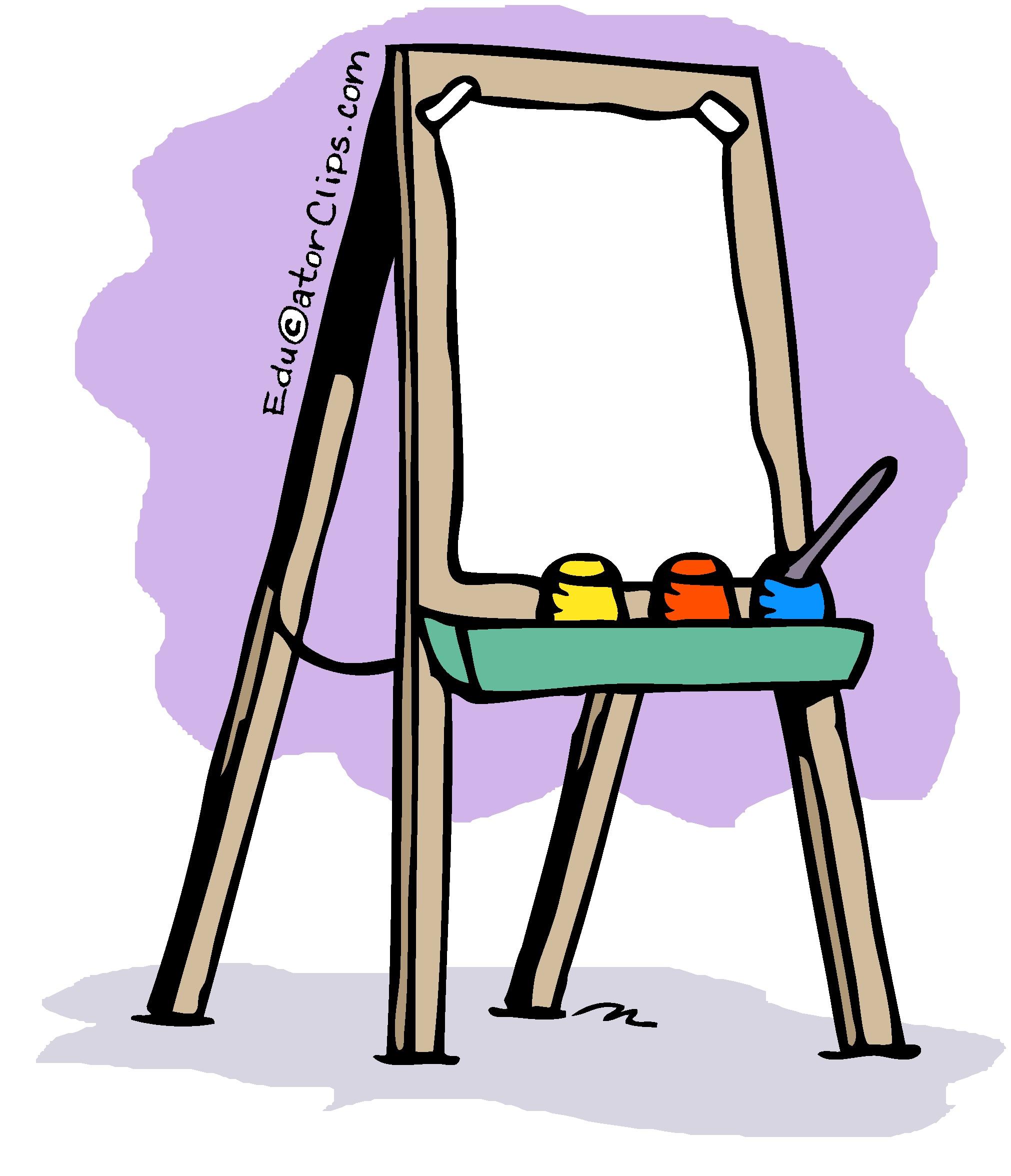 art easel clip art rh educatorclips com