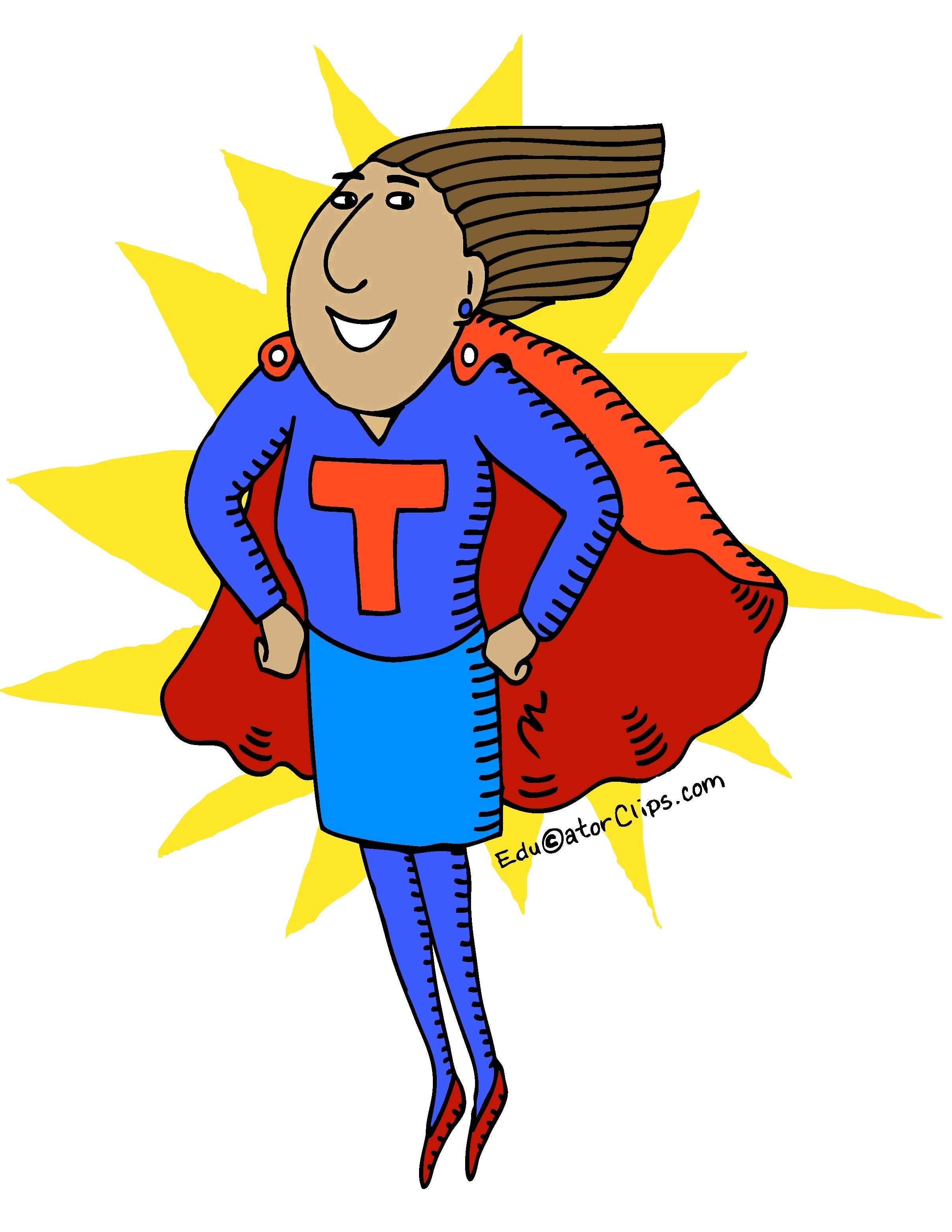 Super Teacher Clip Art